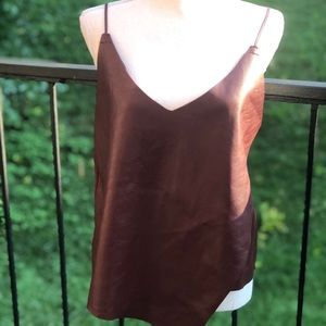 DO + BE Faux Leather Top Size Medium